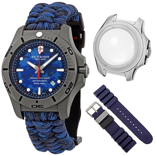 ビクトリノックス/VICTORINOX/腕時計/INOX/プロフェッショナルダイバー/241813/200m防水/ブルーカモ×パラコード
