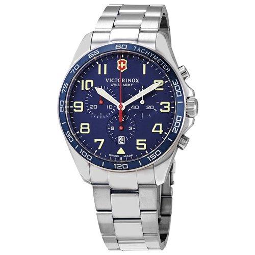 ビクトリノックス/VICTORINOX/腕時計/フィールドフォース/FieldForce/メンズ腕時計/クロノグラフ/241857/100m防水/ブルー×シルバー