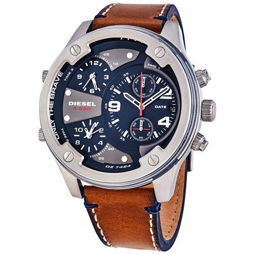 ディーゼル/時計/Diesel/メンズ腕時計/DZ7424/ボルトダウン/Boltdown/ブルー/ブラウンレザー