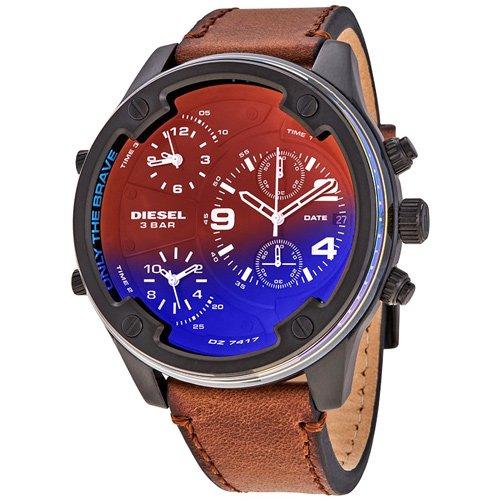 ディーゼル/時計/Diesel/メンズ腕時計/DZ7417/ボルトダウン/Boltdown/偏光ガラス/ブラウンベルト