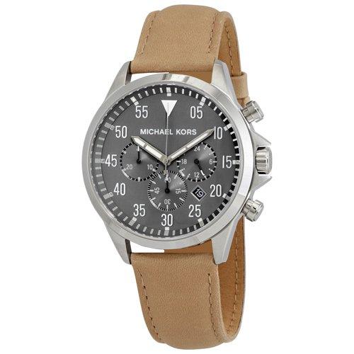 マイケルコース/時計/Michael Kors/メンズ腕時計/MK8616/Gage/ゲージ/グレー/レザーベルト