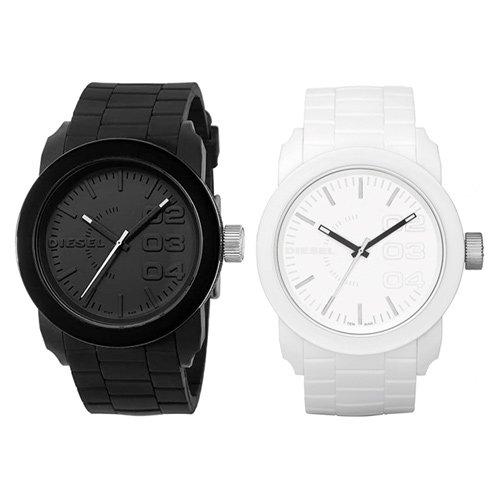ディーゼル/Diesel/時計/フランチャイズ DSL/DZ1436/DZ1437/ペアウォッチ/ブラック×ホワイト