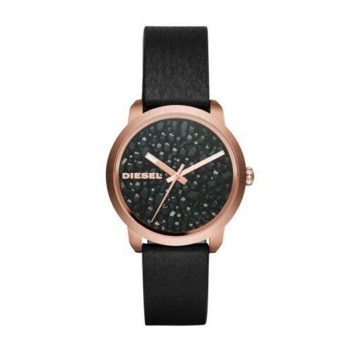 ディーゼル 腕時計 レディース フレア DZ5520 ストーン×ブラックレザー