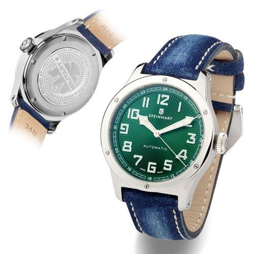 スタインハート/Steinhart/腕時計/Military 47 Green/メンズ/スイスメイド/グリーン×ジーンズ