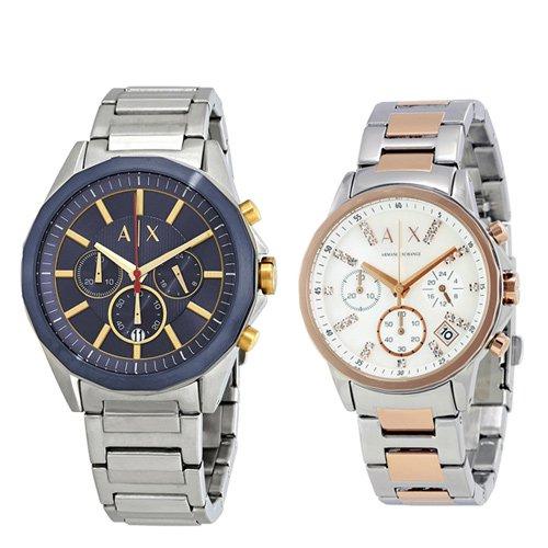 アルマーニエクスチェンジ/腕時計/ペアウォッチ/AX2614/AX4331/シルバー×ピンクゴールド
