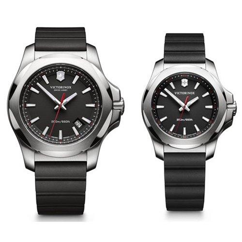 ビクトリノックススイスアーミー/VICTORINOX SWISS ARMY/INOX/腕時計/ペアウォッチ/241682.1/241768/200m防水/ブラック×ブラックラバー