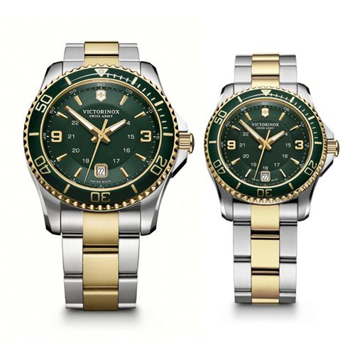 Victorinox/ビクトリノックス /腕時計/ペアウォッチ/マーベリックGS/241605/241612/グリーン×ツートン