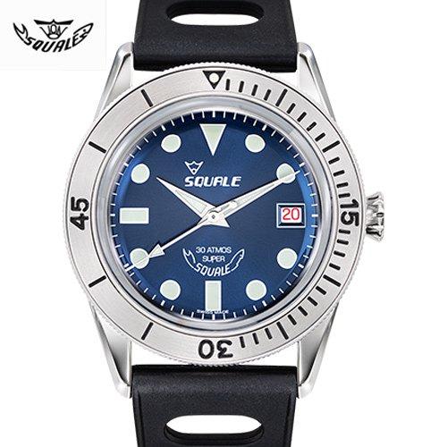 スクワーレ/時計/1521コレクション/1521-Sub-39 SuperBlue/ブルー/ブラックラバーベルト