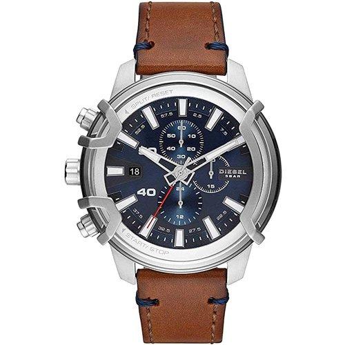 ディーゼル/腕時計/MS9/GRIFFED/DZ4518/ブルー×ブラウンレザー
