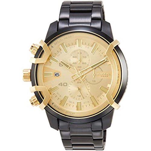 ディーゼル/腕時計/GRIFFED/DZ4525/ゴールド×ブラックステンレスベルト