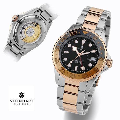 スタインハート/Steinhart/腕時計/オーシャン/Ocean 1 GMT Two-tone Black-Khaki Ceramic/ダイバーズウォッチ/メンズ/スイスメイド
