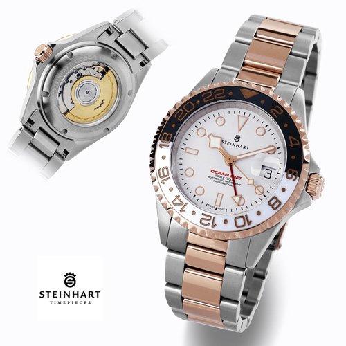 スタインハート/Steinhart/腕時計/オーシャン/Ocean 1 GMT Two-tone Black-White Ceramic/ダイバーズウォッチ/メンズ/スイスメイド