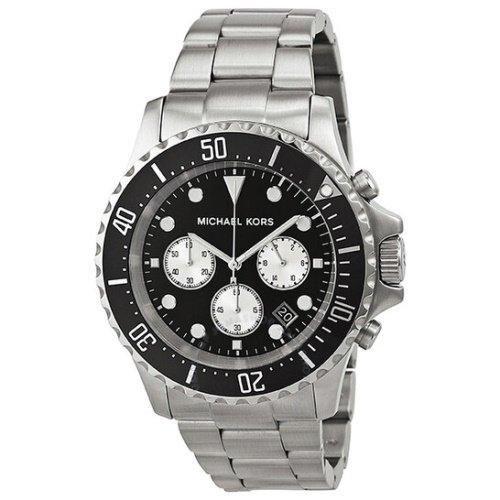 マイケルコース/腕時計/メンズ/Everest|エベレスト/MK8256/ブラック×シルバーベルト