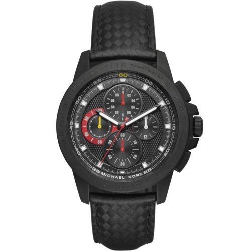 マイケルコース/腕時計/メンズ/Ryker|ライカー/MK8521/ブラック×ブラックレザー