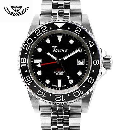 スクワーレ/Squale/時計/1545BGC/300M防水/セラミックベゼル/オートマチック/スイスメイド/ダイバーズ/ブラック