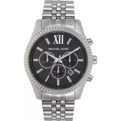 マイケルコース/腕時計/メンズ/Lexington|レキシントン/MK8602/ブラック×シルバーベルト