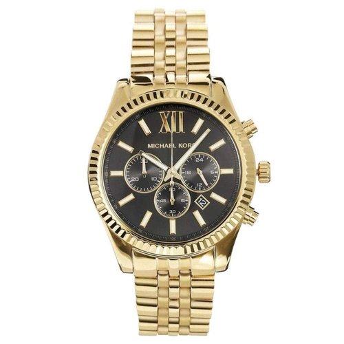 マイケルコース/腕時計/メンズ/Lexington|レキシントン/MK8286/ブラック×ゴールドベルト