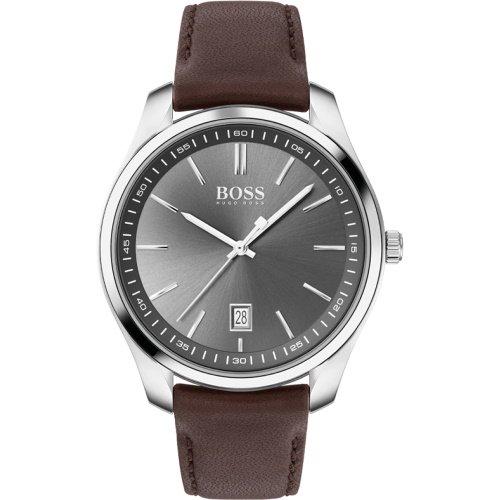 ヒューゴボス/腕時計/メンズ/Circuit |サーキット/1513726/グレー×ブラウンレザーベルト