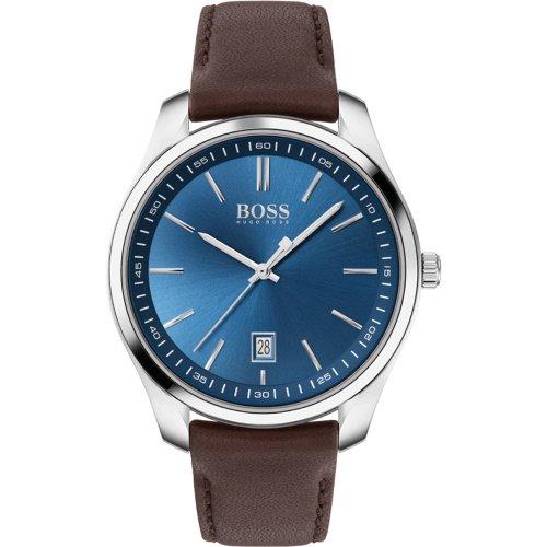 ヒューゴボス/腕時計/メンズ/Circuit|サーキット/1513728/カレンダー/ブルー×ブラウンレザーベルト
