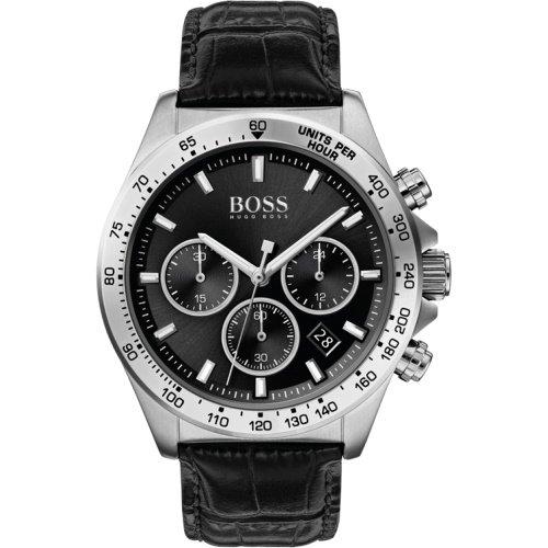 ヒューゴボス/腕時計/メンズ/ Hero|ヒーロー/1513752/クロノグラフ/カレンダー/ブラック×ブラッククロコ型押しレザーベルト