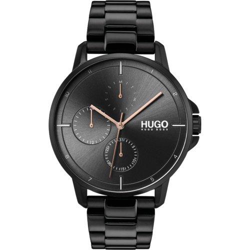 ヒューゴボス/腕時計/メンズ/Focus |フォーカス/1530127/カレンダー/ブラック×ブラックメタルベルト