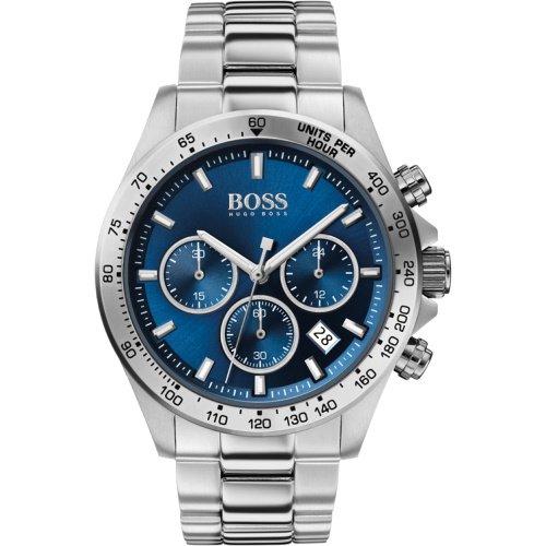 ヒューゴボス/腕時計/メンズ/Hero |ヒーロー/1513755/クロノグラフ/カレンダー/ブルー×シルバーステンレスベルト