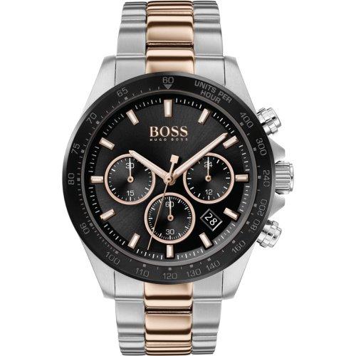 ヒューゴボス/腕時計/メンズ/Hero |ヒーロー/1513757/クロノグラフ/カレンダー/ブラック×シルバー&ゴールドステンレスベルト