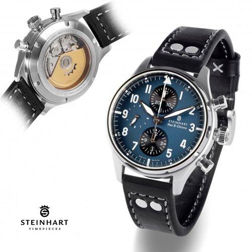 スタインハート/Steinhart/腕時計/エヌエービー/Nav B-Chrono 42 Classic A-Type Blue/メンズ/スイスメイド