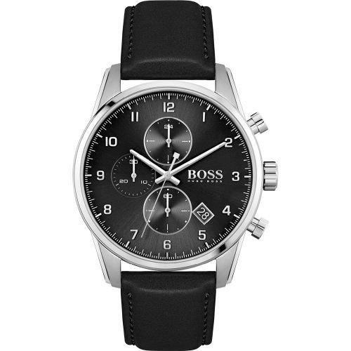 ヒューゴボス/腕時計/メンズ/Skymaster  スカイマスター/1513782/クロノグラフ/カレンダー/ブラック×ブラックレザーベルト