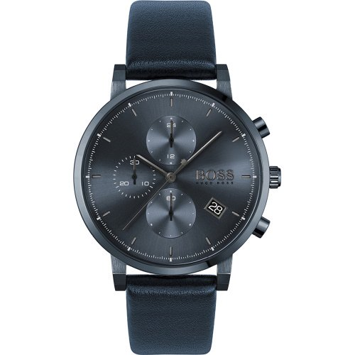 ヒューゴボス/腕時計/メンズ/Integrity  インテグリティ/1513778/ブルー×ブルーレザーベルト