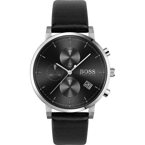 ヒューゴボス/腕時計/メンズ/Integrity  インテグリティ/1513777/ブラック×ブラックレザーベルト