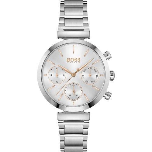 ヒューゴボス/腕時計/レディース/Flawless|フローレス/1502530/クロノグラフ/デイデイト/シルバー×シルバーステンレスベルト