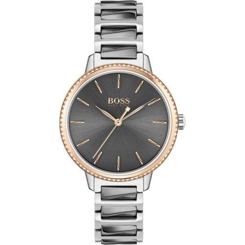 ヒューゴボス/腕時計/レディース/Signature|シグネチャー/1502569/グレー×グレーステンレスベルト