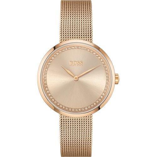 ヒューゴボス/腕時計/レディース/Praise|プレイズ/1502548/ローズゴールド×ローズゴールドミラネーゼブレスレット