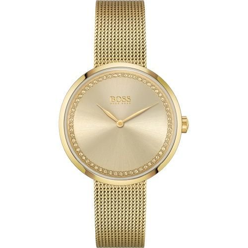ヒューゴボス/腕時計/レディース/Praise|プレイズ/1502547/ゴールド×ゴールドミラネーゼブレスレット