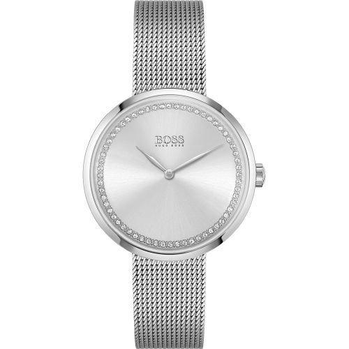 ヒューゴボス/腕時計/レディース/Praise|プレイズ/1502546/シルバー×シルバーミラネーゼブレスレット