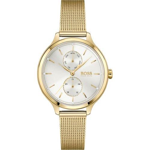 ヒューゴボス/腕時計/レディース/Purity|ピュアリティ/1502537/デイデイト/シルバー×ゴールドミラネーゼブレスレット