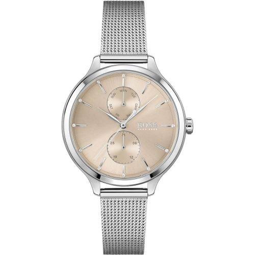 ヒューゴボス/腕時計/レディース/Purity|ピュアリティ/1502535/ローズゴールド×シルバーミラネーゼブレスレット