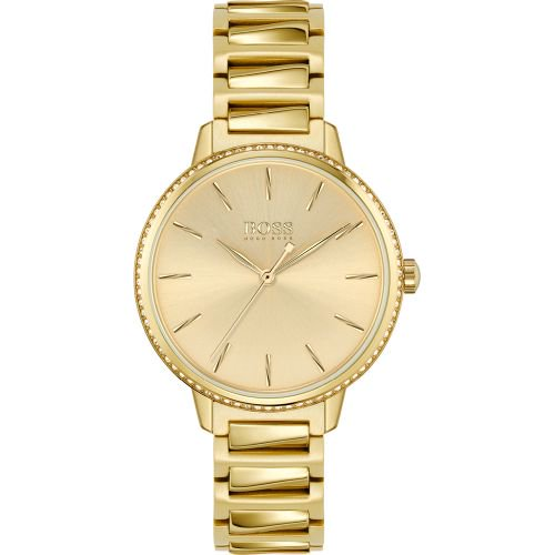 ヒューゴボス/腕時計/レディース/Signature|シグネチャー/1502541/ゴールド×ゴールドステンレスベルト