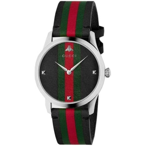グッチ/腕時計/メンズ/G-Timeless|G-タイムレス/YA1264079/マルチカラー×マルチカラーレザーベルト