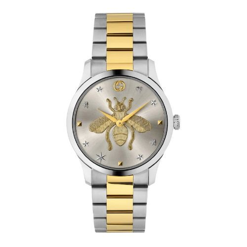 グッチ/腕時計/レディース/G-Timeless|G-タイムレス/YA1264131/シルバー×ツートンカラーステンレスベルト