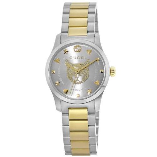 グッチ/腕時計/レディース/G-Timeless|G-タイムレス/YA126596/シルバー×ツートンカラーステンレスベルト
