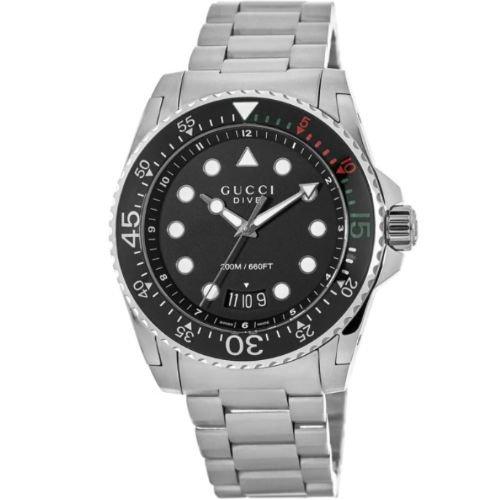 グッチ/腕時計/メンズ/Dive|ダイブ/YA136208A/20気圧防水/カレンダー/ステンレスベルト