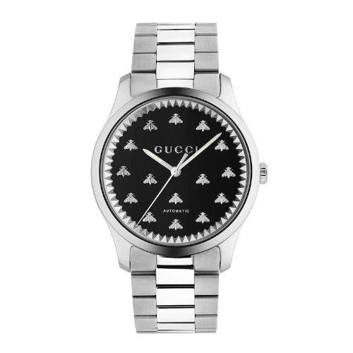 グッチ/腕時計/メンズ/G-Timeless|G-タイムレス/YA126283/自動巻き/ブラックオニキス×シルバーステンレスベルト