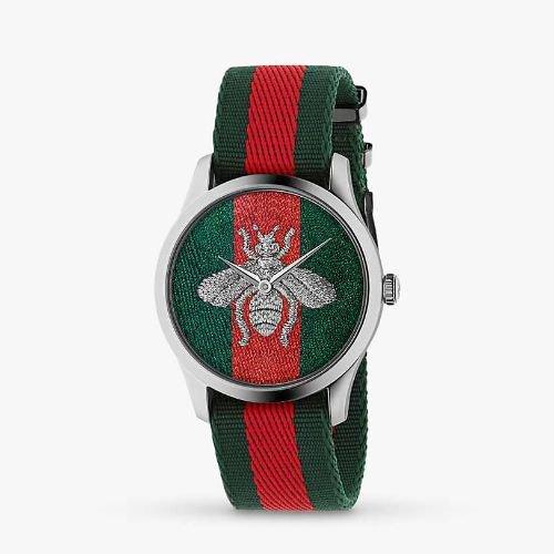 グッチ/腕時計/メンズ/G-Timeless|G-タイムレス/YA1264148/グリーン&レッド×グリーン&レッドナイロンベルト