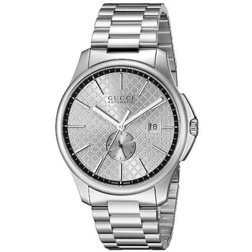 グッチ/腕時計/メンズ/G-Timeless|G-タイムレス/YA126320/シルバー×シルバーステンレスベルト