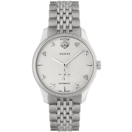 グッチ/腕時計/メンズ/G-Timeless|G-タイムレス/YA126354/自動巻き/ホワイト×シルバーステンレスベルト