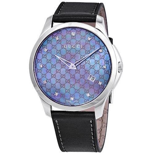 グッチ/腕時計/レディース/G-Timeless G-タイムレス/YA126307/カレンダー/グレー×グレーレザーベルト
