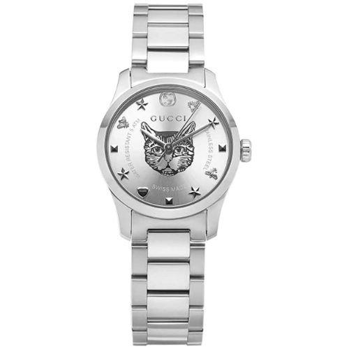 グッチ/腕時計/レディース/G-Timeless G-タイムレス/YA126595/シルバー×シルバーステンレスベルト