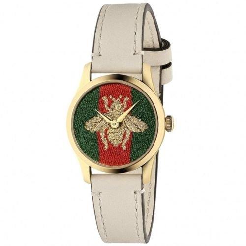 グッチ/腕時計/レディース/G-Timeless G-タイムレス/YA1265009/マルチカラー×ホワイトレザーベルト